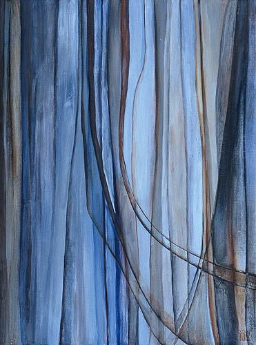 Color Strands. what a great free form painting exercise -- combines lines and movement with expressive use of limited palette