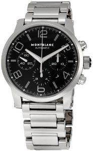 MONTBLANC TIMEWALKER CHRONOGRAPH AUTOMATIC    43 mm stainless steel watch with black dial, automatic movement with chronograph function, date display, sapphire crystal case back, stainless steel bracelet with triple-folding clasp