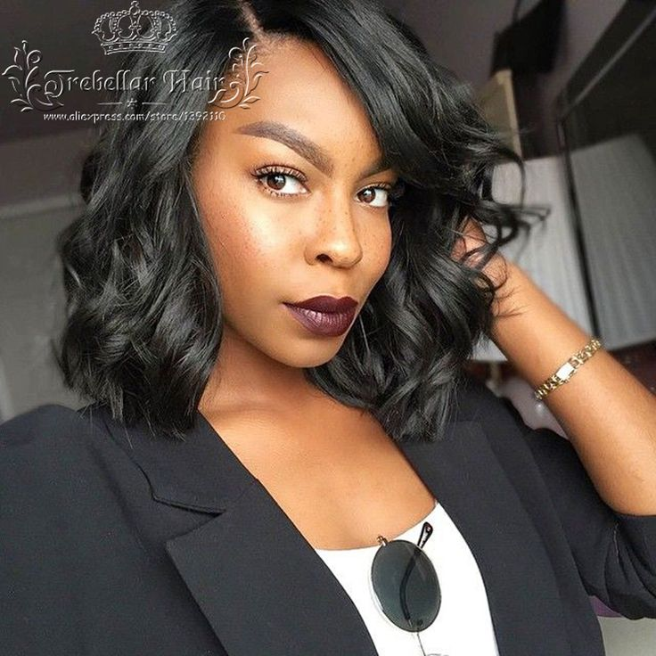 Glueless Full Lace Wig Brazilian Virgin Hair Bob Lace