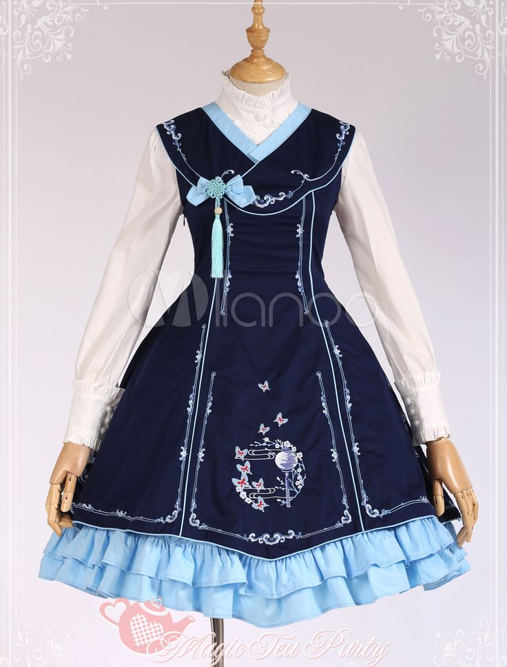 Embroidered Cotton Lolita Dress