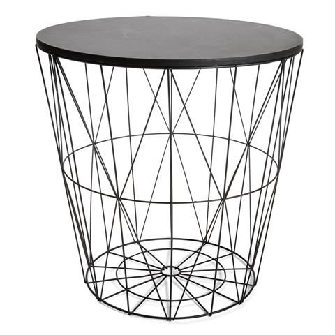 wire Storage Table Black homemaker