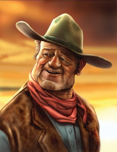 John Wayne..FOLLOW THIS BOARD FOR GREAT CARICATURES OR ANY OF OUR OTHER CARICATURE BOARDS. WE HAVE A FEW SEPERATED BY THINGS LIKE ACTORS, MUSICIANS, POLITICS. SPORTS AND MORE...CHECK 'EM OUT!! HERE ---->  http://www.pinterest.com