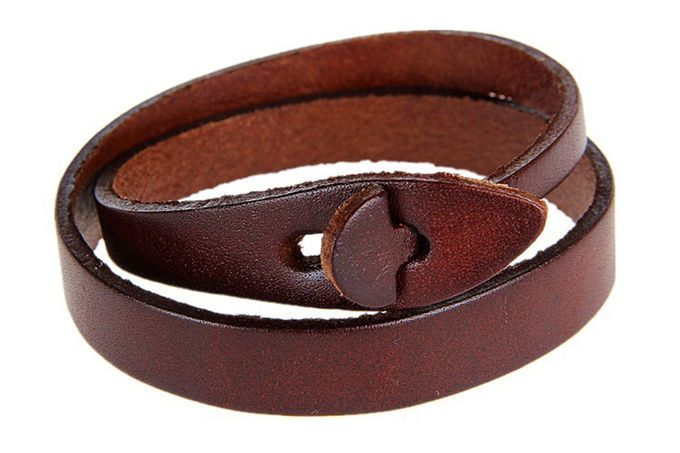 Brown Leather Bracelet,Man & Women Leather Bracelet,Fashion Leather Bangle #Handmade #Cuff  Fashion handmade jewelry. The best Christmas gift.