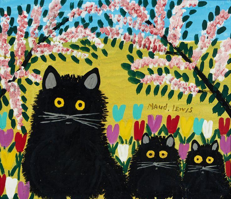 Maud Lewis (1903-1970) - Three Black Cats
