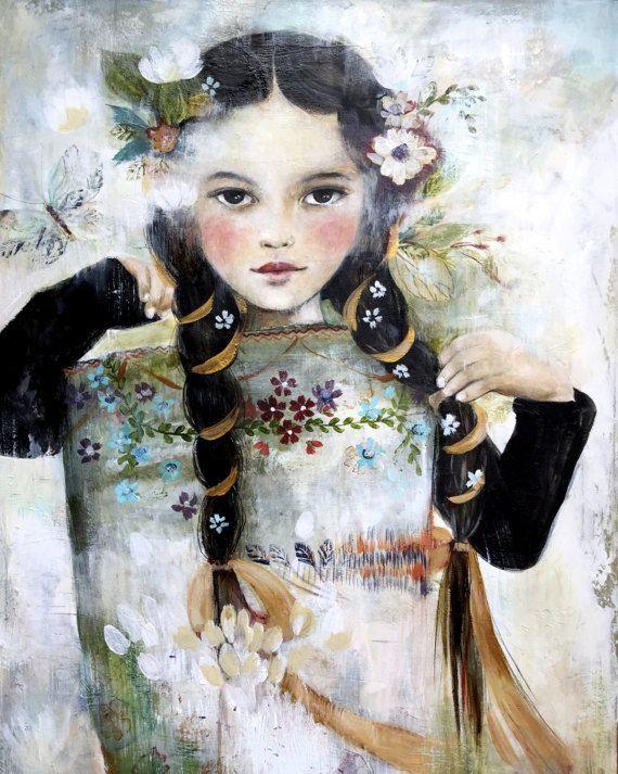Marion con delle rose dell'annata