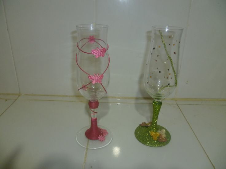 copas decoradas, inspiradas en pines vistos