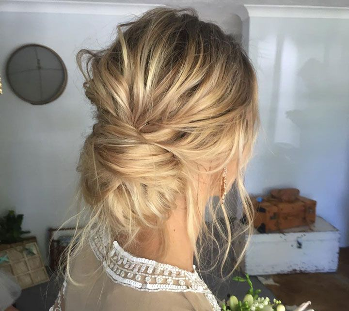There's something about a chignon that looks so chic on a bride on her wedding day! Make it a messy one with some texture and strategically placed and pulled tendrils and it's even better. Take a look at these four pics by Emma Chen Artistry and see if you can imagine wearing this style on your special …