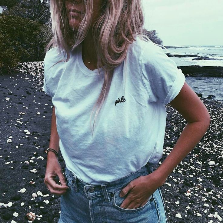 The Salty Blonde giving us girl power vibes in the softest cotton T shirt!