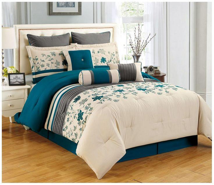 Leather King Bedroom Sets Teal And Black Bedroom Bedroom Furniture Modern Bedroom Decorating Ideas Grey: Best 25+ Teal Comforter Ideas On Pinterest