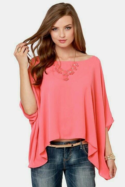 Realizamos todo tipo de blusas: Coral Pink, Fashion Shoes, Fashion Honey, Pink Tops, Draping Tops, Shorts Sleeve, Blusa Casual Ideas Fashion, Coral Draping, Coral Tops