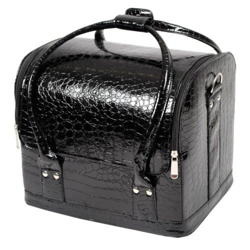 Portable-Travel-Beauty-Cosmetic-Makeup-Vanity-Case-Nail-Box-Alligator-Leather