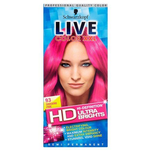Schwarzkopf Live Color Xxl Ultra Brights 93 Shocking Pink Semi-Permanent Pink Hair Dye ** Be sure to check out this helpful article. #hairaccessories