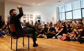 Hugh Jackman charms WA Academy of Performing Arts students while launching his foundation.