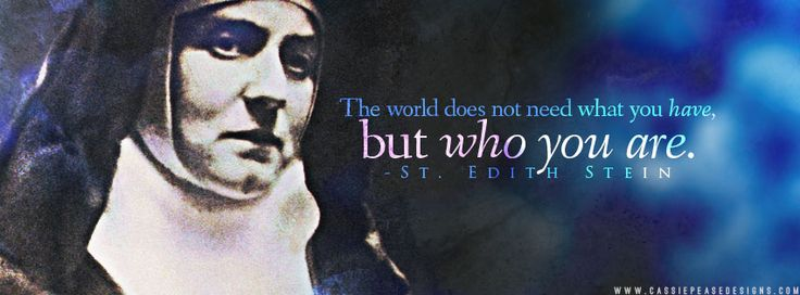 St. Teresa Benedicta of the Cross (Edith Stein) Coverphoto | Cassie Pease Designs