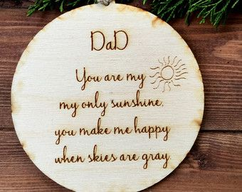 Christmas ornament dad ornament sons first by ScreechOwlSupply