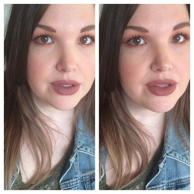 I thought you guys might find this helpful - MAC #themattelip Whirl lipstick on left, Persistence on right. Whirl liner used around edges for both. You can see they're very similar - it's just a matter of cool-toned (Whirl) or warm (Persistence).