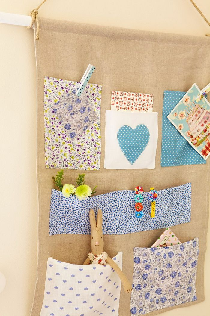 Pockets! handy for kids bedrooms, playroom bits and bobs, even kitchen with messages from school, bills etc