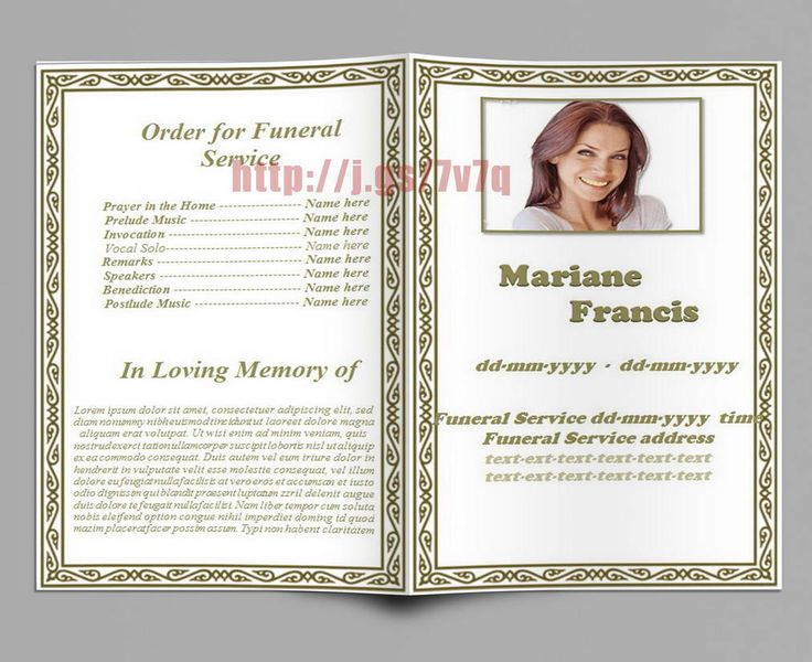 79 best Funeral Program Templates for MS Word to Download images - memorial pamphlet template free
