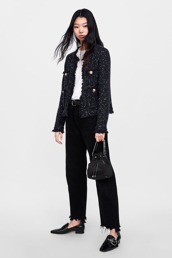 188fac5a TWEED JACKET WITH SEQUINS - View all-KNITWEAR-WOMAN   ZARA United States