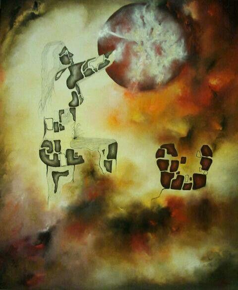 By Jesús Ojeda. Harimaguada (140x120 cm). Year 2014