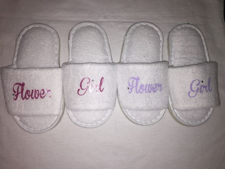 flower girl slippers, bridesmaid slippers, wedding slippers, spa slipper, personalised slippers, bridesmaid gift , flower girl gift, by personaliseddiamante on Etsy