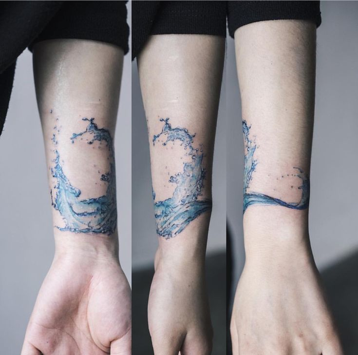 Water splash tattoo @ Instagram