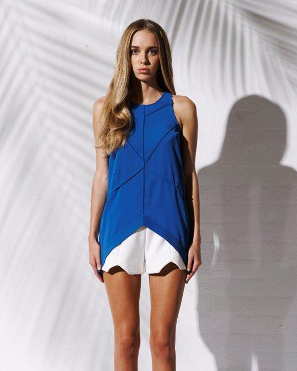 Bebe Sydney Cobalt Skylark Tank - Clothing - Birdmotel Online Store