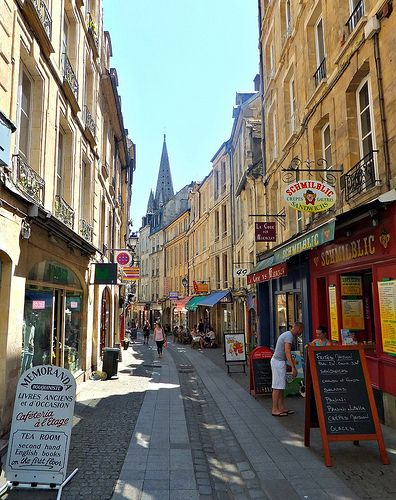 Caen ~ Calvados - street scene - beautiful place!