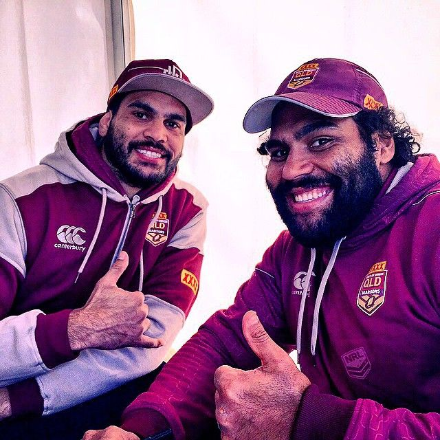 The Fellas! @greg_inglis1 @samthaiday1 #Origin #NRL | pic @reece_carter