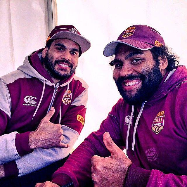 The Fellas! @greg_inglis1 @samthaiday1 #Origin #NRL | pic @reece_carter