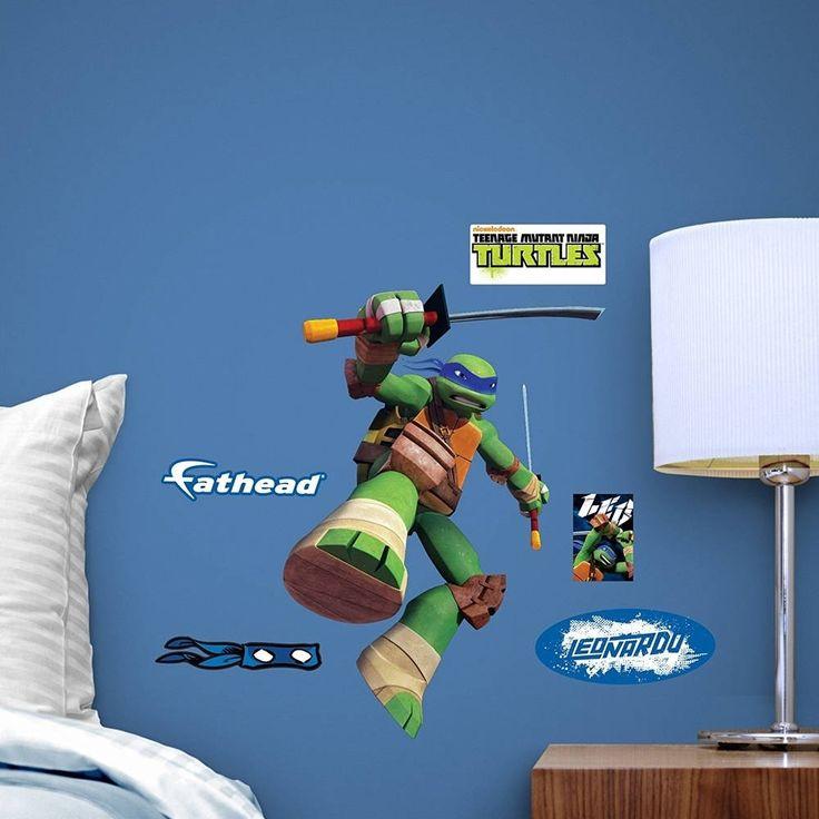 Fathead Teenage Mutant Ninja Turtles Leonardo Fathead Teammate Decor Wall Vinyl