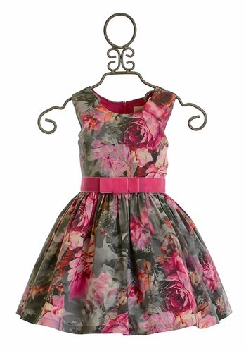 Zoe LTD Mod Gray Floral Dress (Size 8)