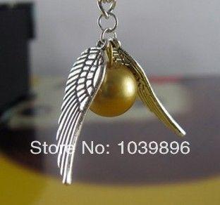 Гарри поттер квиддич золотой снитч карманные ожерелье