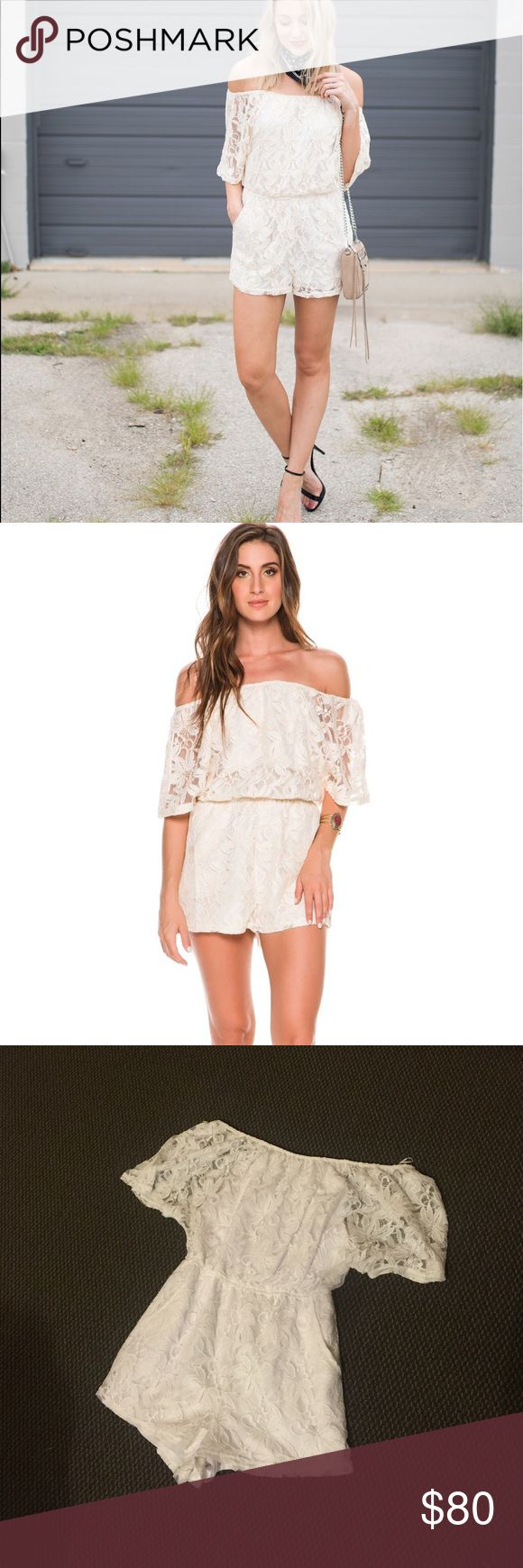 🆕 White Dainty Laced Romper BB DAKOTA Romper. Worn once. Purchased from Bloomingdales. Tagged fl&l for exposure For Love and Lemons Dresses