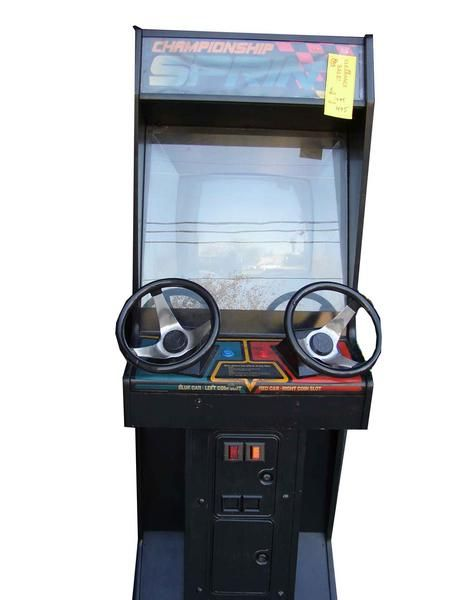 Here's An Original 1986 Championship Sprint Arcade game for sale! Championship Sprint is an arcade game that was released in 1986, it's sequel Super Sprint.