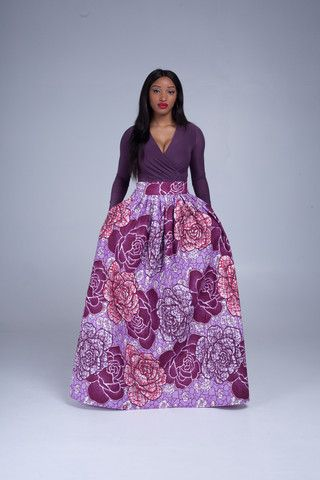 Loveeee this purple maxi skirt from grass fields