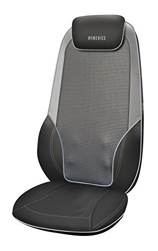 From 90.00 Homedics Shiatsu Max 2.0 Back And Shoulder Massager - Adjustable Massage Chair Relaxes Shoulder Back And Upper Leg Muscles With Shiatsu Rolling Vibration Soothing Heat Treatments  More - Grey