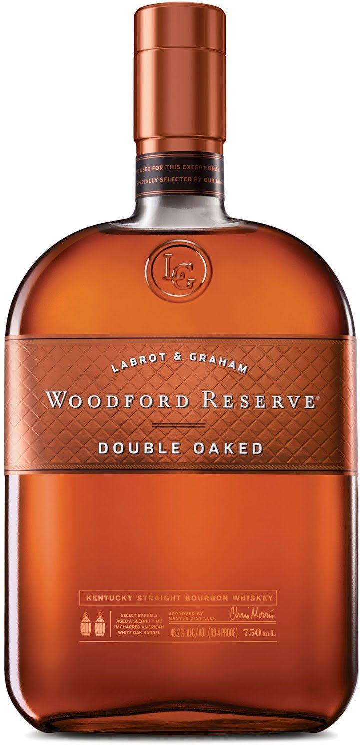 Woodford Reserve Double Oaked Bourbon.  Aged initially for seven years and then double-barreled in bespoke casks, this #bourbon #whiskey earned the Double Gold Medal at the San Francisco World Spirits Competition in 2013. | @Caskers
