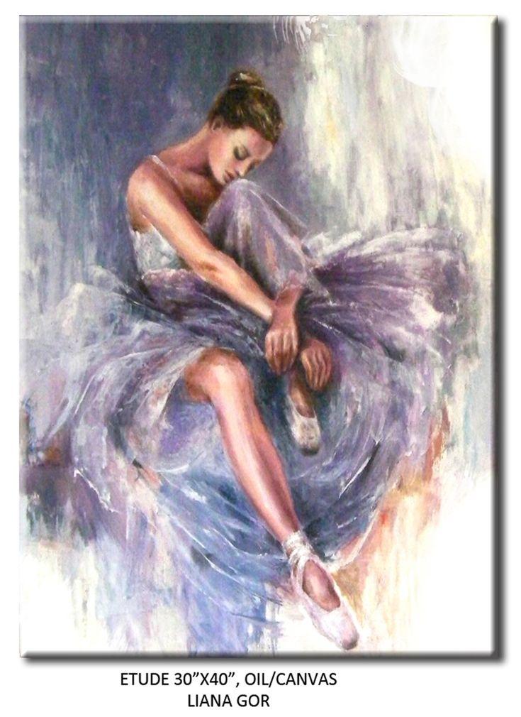 Liana Gor - Etude - Oil on Canvas