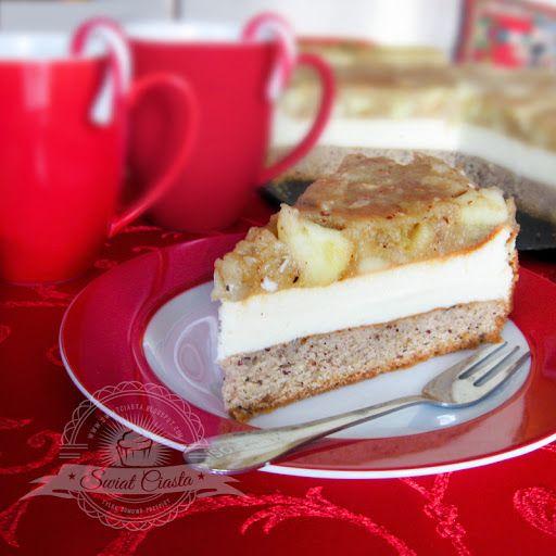 Świąteczne ciasto z karmelizowanymi jabłkami | Świat Ciasta
