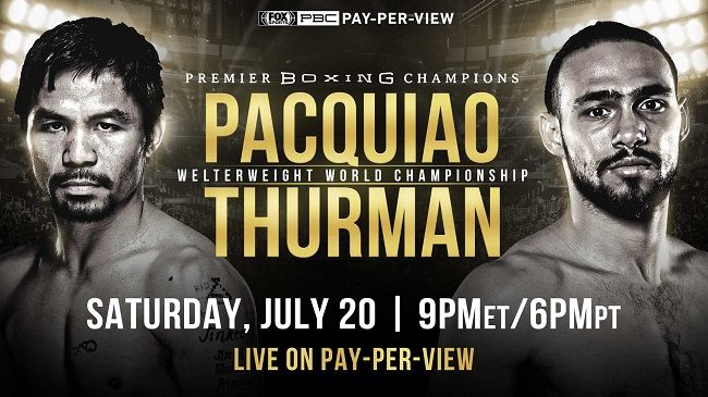 See The Full Video Highlights Of Manny Pacquiao Vs Keith Thurman Fight Results Boxing Updates Scorecar Manny Pacquiao Boxing Fight