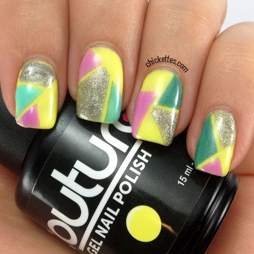 Best 25 color block nails ideas on pinterest subtle nail art chickettes color blocking nail art prinsesfo Images