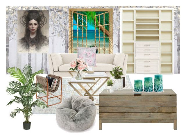 """""""Untitled #361"""" by sims2004 ❤ liked on Polyvore featuring interior, interiors, interior design, home, home decor, interior decorating, Yosemite Home Décor, Pottery Barn, Nearly Natural and John Lewis"""