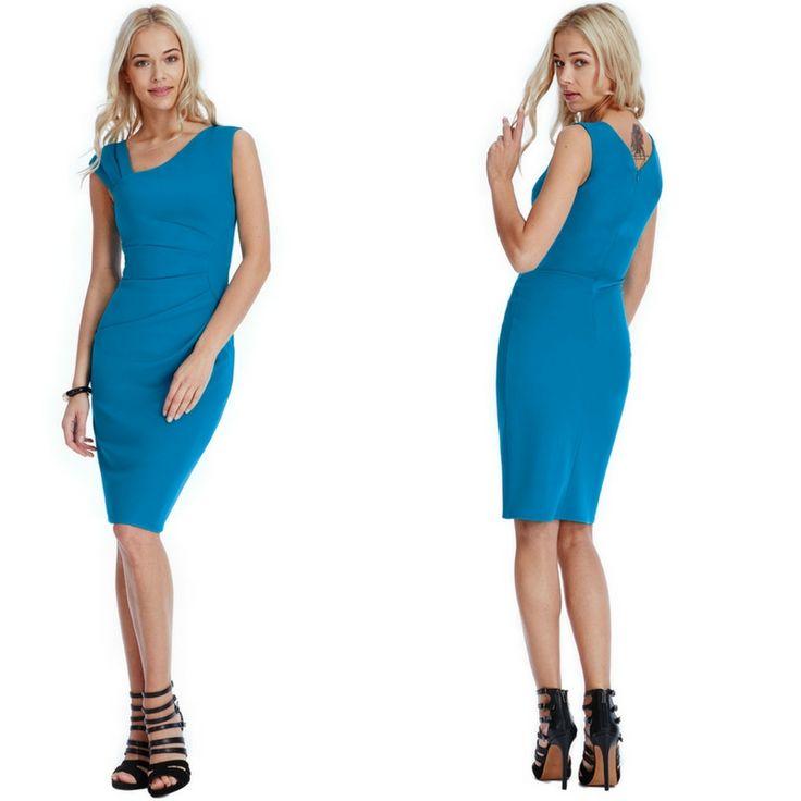 Vestito vintage a tubino blu Goddiva  Taglia 10 che veste una m  https://www.lorcastyle.it