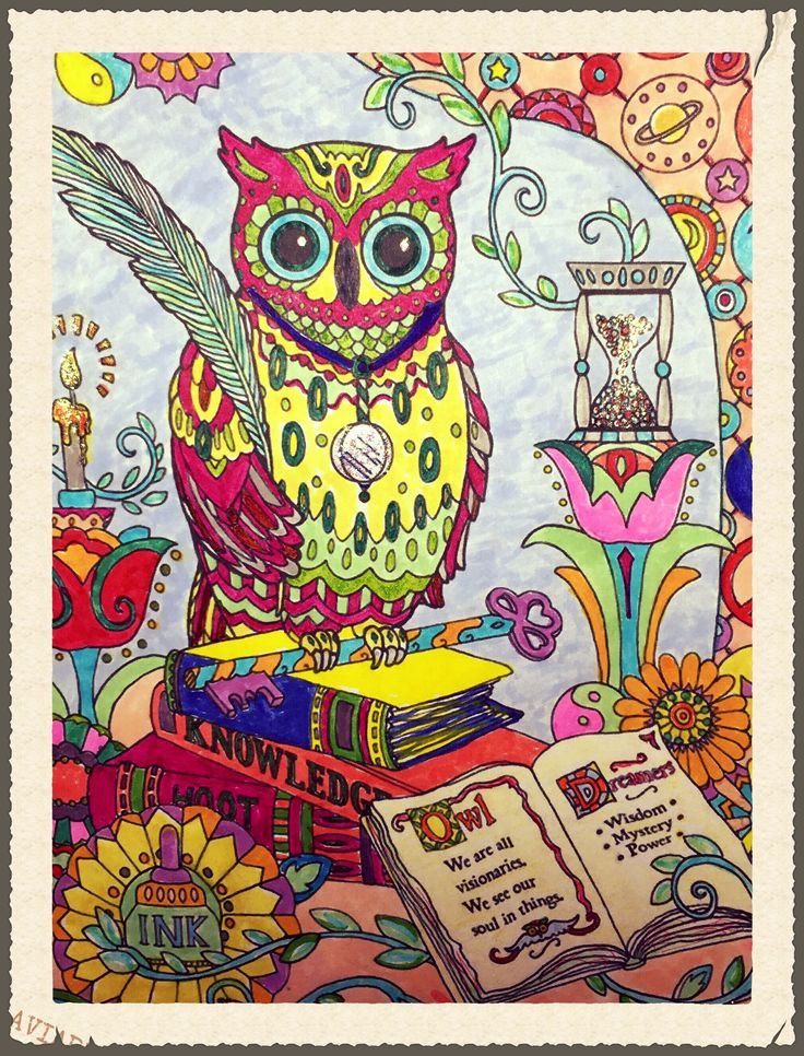 My First Adult Coloring Page 10 15 Used Colored Markers Glitter Glue