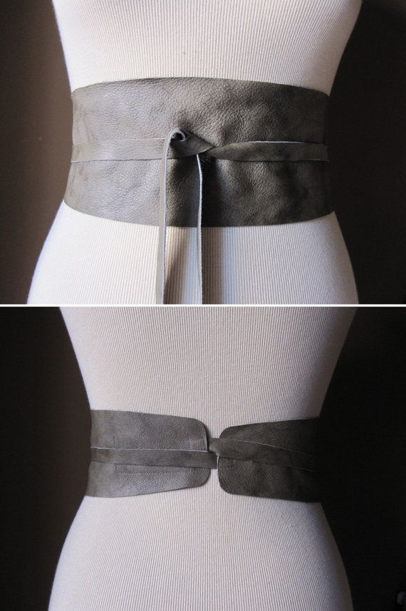 Sage  Leather Obi Belt by TheButterfliesShop on Etsy, $39.50