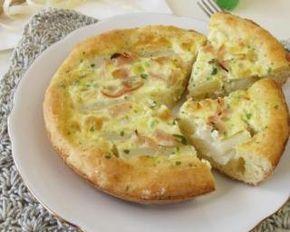 Quiche sans pâte minceur au chèvre et au jambon : http://www.fourchette-et-bikini.fr/recettes/recettes-minceur/quiche-sans-pate-minceur-au-chevre-et-au-jambon.html