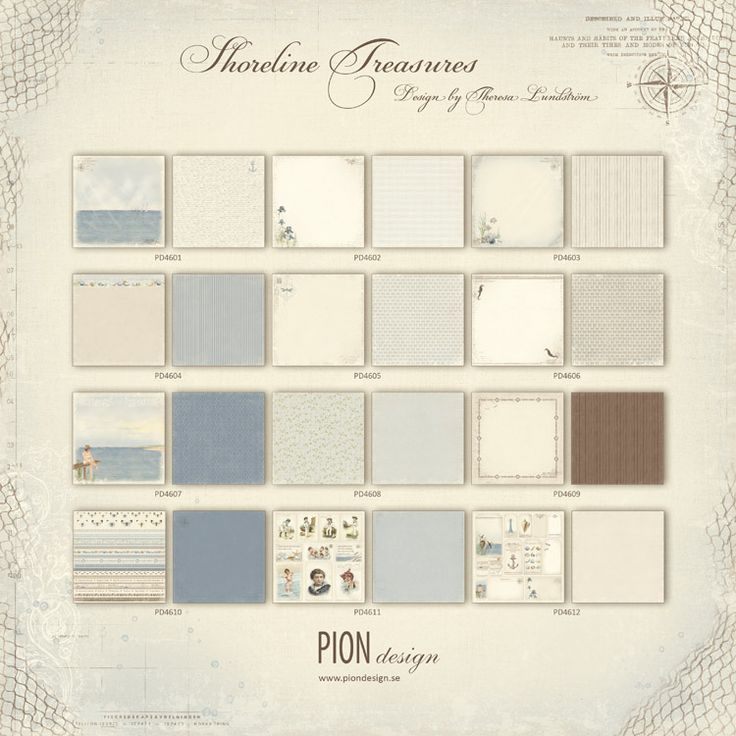 Sun kissed cheeks and picnics by the sea, castles in the sand and midnight swims.  Pion Design presents the paper collection Shoreline Treasures.This collection captures the essence of a Summer by the sea,…