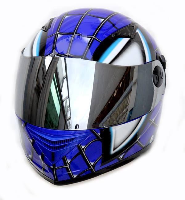 masei 830 spider man dot ece motorcycle bike helmet blue m l xl