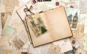 Mercadoria, Monumentos, letras, Marca, Vintage, papel velho, linha